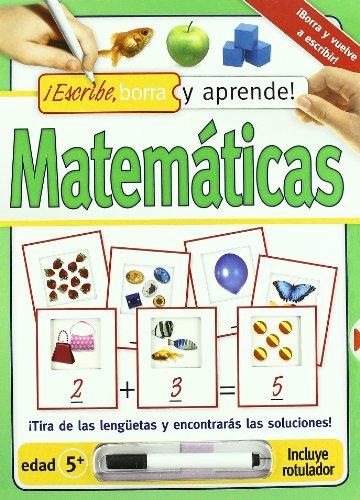 9788428537353: Matemáticas. Escribe, borra y aprende