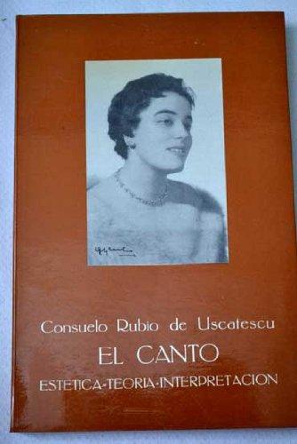 El canto: Estetica, teoria, interpretacion (Spanish Edition): Rubio, Consuelo