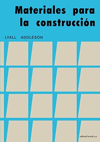 9788429120059: Materiales para la construcción (Volume 1) (Spanish Edition)