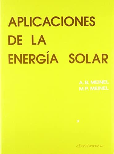 9788429141993: Aplicaciones de la energia solar