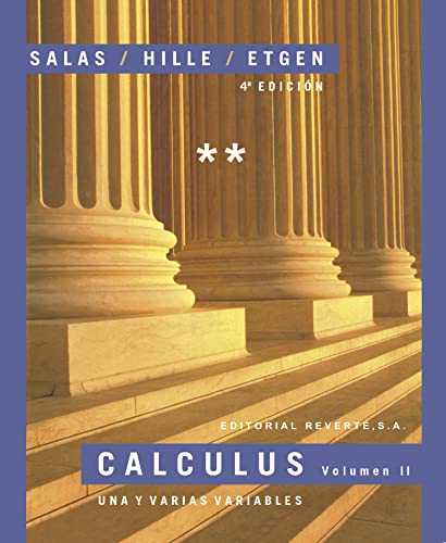 Calculus Tomo II (Spanish Edition): Salas