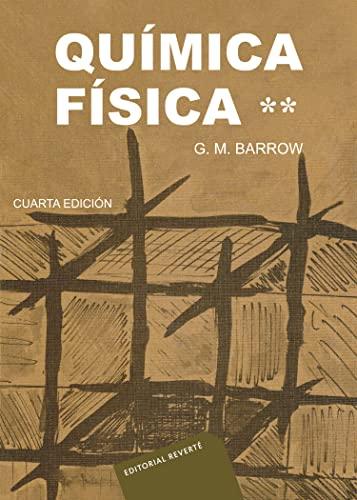 9788429170597: Química física (Barrow I vol. 2) (Spanish Edition)