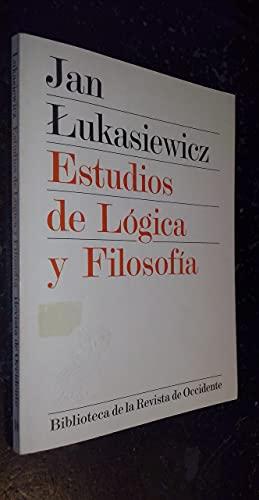 Estudios de Lógica y Filosofía (8429287108) by Jan Lukasiewicz