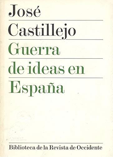 9788429287202: Guerra De Ideas En España. Prologo De Julio Caro Baroja.