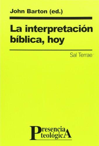 INTERPRETACION BIBLICA HOY
