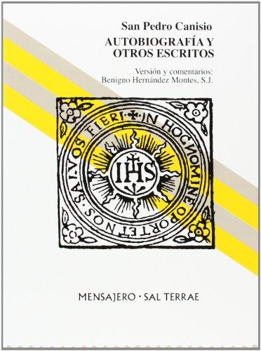 9788429315424: San Pedro Canisio: Autobiografía y otros escritos (Manresa)