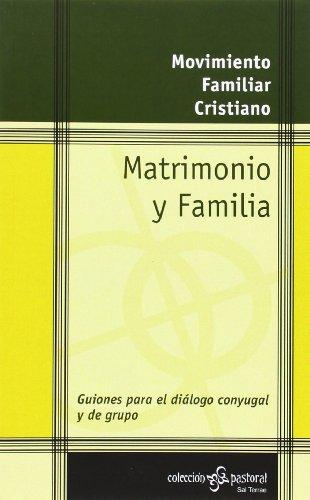 9788429315585: Matrimonio y Familia (Pastoral)