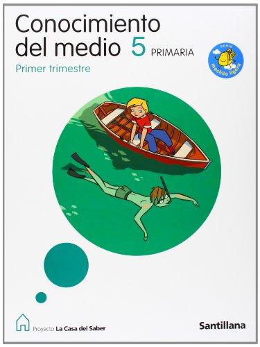 9788429408126: Proyecto La Casa del Saber, Serie Mochila Ligera, Conocimiento del Medio, 5 Educación Primaria (Madrid). 1, 2 y 3 Trimestre - 9788429408126