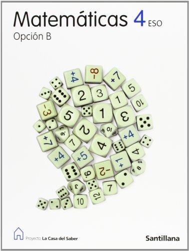 Matematicas 4º.eso (opc.b).casa del saber de Varios autores ...
