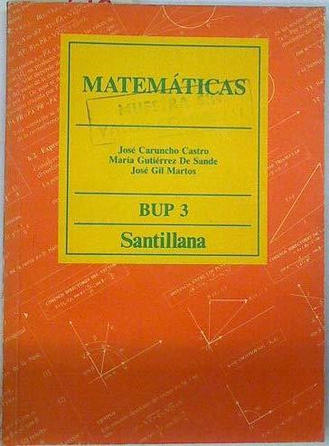 9788429424690: Matematicas 3 : bup