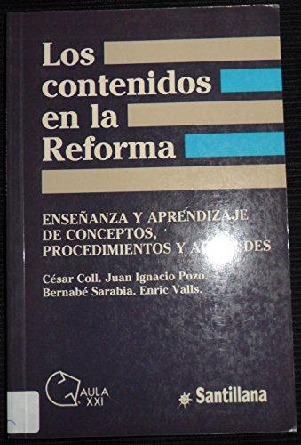 9788429435894: Los Contenidos En La Reforma
