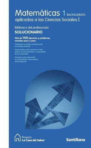9788429443608: Matemáticas Aplicadas a las Ciencias Sociales I La Casa Del Saber Santillana