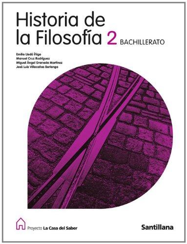 9788429443769: HISTORIA DE LA FILOSOFIA 2 BACHILLERATO LA CASA DEL SABER SANTILLANA