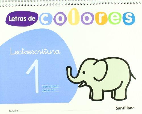 9788429480641: Letras de colores, lectoescritura. Cuaderno 1 (pauta)