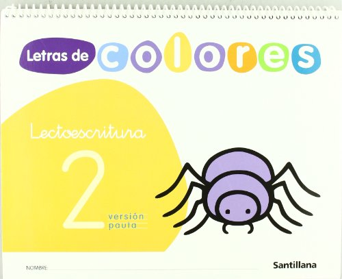 9788429480658: LETRAS DE COLORES 2 CUAD LECTOESCRITURA VERSION PAUTA