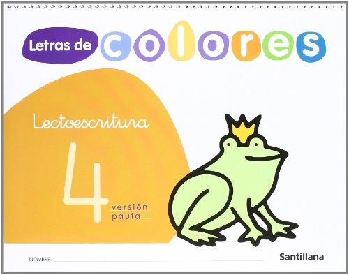 9788429480702: Letras de colores, lectoescritura. Cuaderno 4 (pauta)