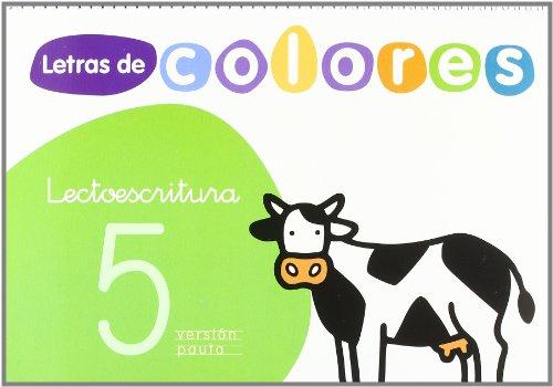 9788429480719: LETRAS DE COLORES 5 CUAD LECTOESCRITURA VERSION PAUTA SANTILLANA