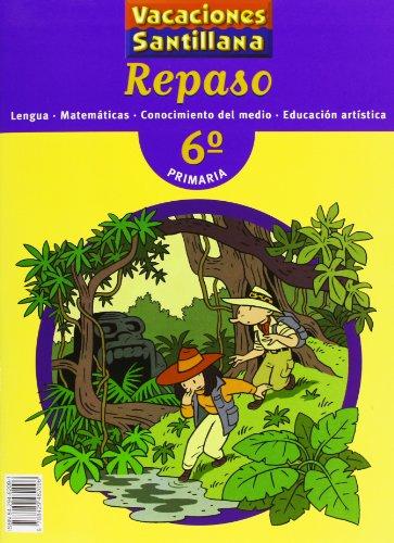 9788429482096: Vacaciónes Santillana, lengua, matemáticas, conocimientos del medio, educación artística, 6 Educación PriMaría. Repaso