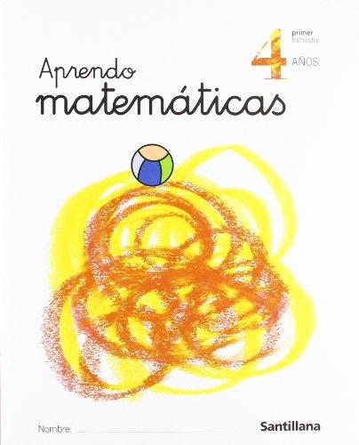 9788429484632: Aprendo matemáticas, Educación Infantil, 4 años - 9788429484632