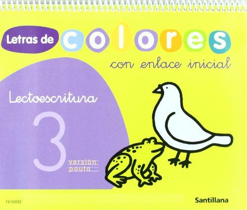 9788429490947: letras de colores 3 con enlace inicial cuad lectoescritura version pauta santillana