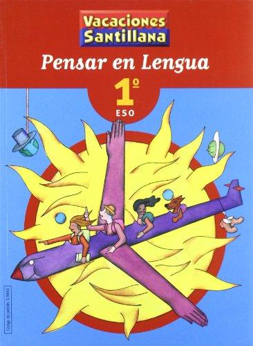 9788429494433: Vacaciones Santillana, pensar en lengua, 1 ESO
