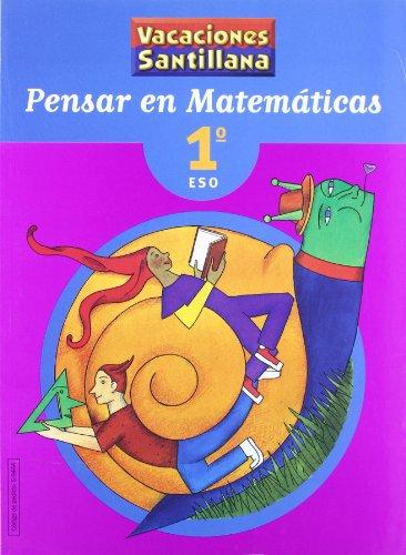 9788429494440: Vacaciónes Santillana, pensar en matemáticas, 1 ESO - 9788429494440