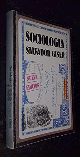 SOCIOLOGIA: Salvador Giner