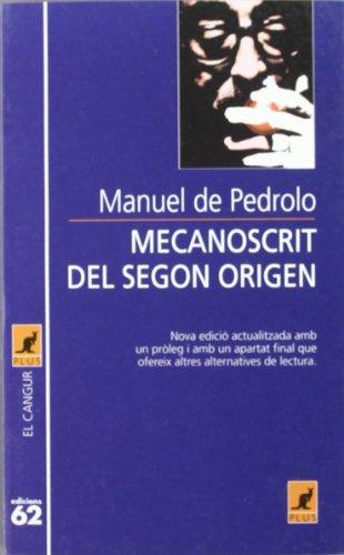 Mecanoscrit del segon origen (El Cangur): Pedrolo Molina, Manuel