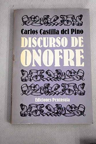 9788429712780: Discurso de Onofre (Spanish Edition)