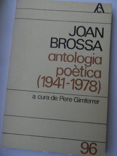 9788429715583: Antologia Poètica (1941-1978)