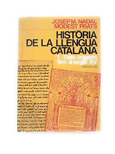 9788429719048: Història de la llengua catalana I.: Dels inicis fins al segle XV (Estudis i Documents)