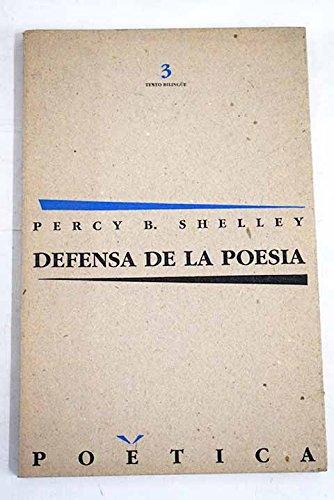 9788429724462: Defensa de la poesía (Poètica)