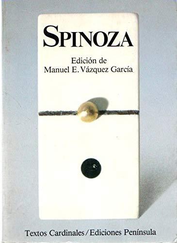 9788429724929: Spinoza: Antología (TEXTOS CARDINALES)