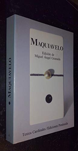 9788429725490: Maquiavelo: Antología