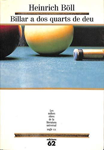 9788429732412: Billar a dos quarts de deu (MOLU s.XX - Les Millors Obres de la Literatura Universal Segle XX)