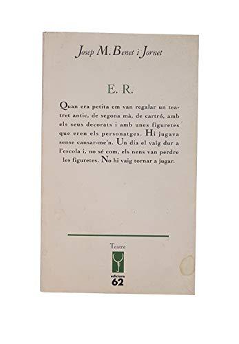 9788429738056: E.R (Els llibres de l'Escorpi) (Catalan Edition)