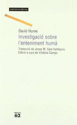 9788429743920: Investigació sobre l'enteniment humà.: Ed a cura de Victòria Camps (Universitària)