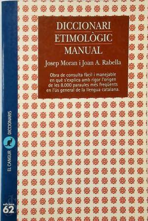 9788429744897: Diccionari etimològic manual (El Cangur)
