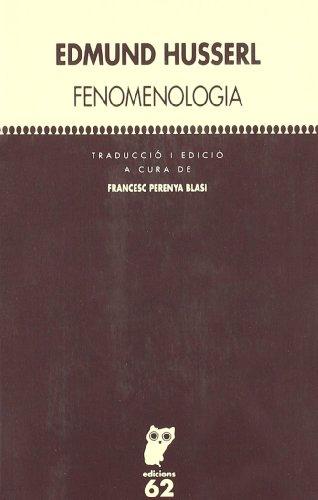 9788429745887: Fenomenologia (Textos Filosòfics)
