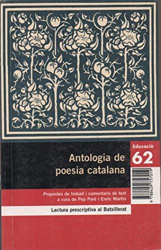 9788429757019: Antologia de poesia catalana. (Educació 62)