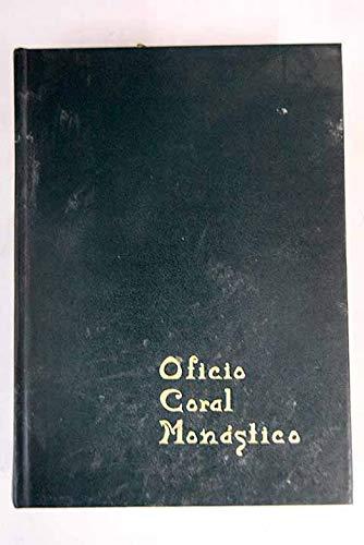9788430029525: Oficio coral monastico
