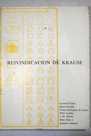 9788430071623: Reivindicación de Krause