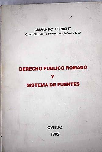 9788430075669: Derecho publico romano y sistema de fuentes (Spanish Edition)