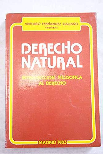9788430078356: Derecho natural: Introducción filosófica al derecho (Spanish Edition)