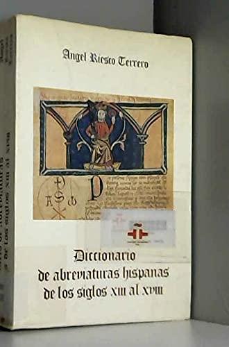 9788430090907: Diccionario de abreviaturas hispanas de los s.XIII - XVIII