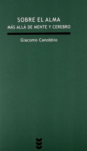 SOBRE EL ALMA (Spanish Edition): CANOBBIO GIACOMO