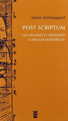 9788430117567: Post scriptum: No científico y definitivo a
