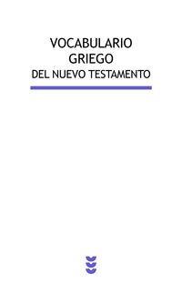 9788430118878: Vocavulario griego del nuevo testamento