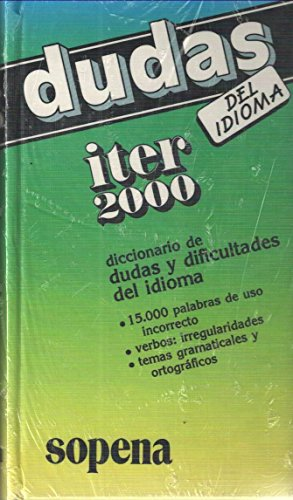 9788430308385: Diccionario Sopena de Dudas y Dificultades del Idioma (Spanish Edition)