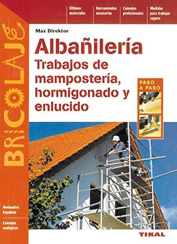 9788430535538: Albañilería, trabajos de mampostería, hormigonado y enlucido